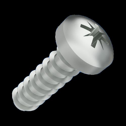 Linsenkopfschraube Delta PT 3x8 ST-ZN für thermoplastische Kunststoffe