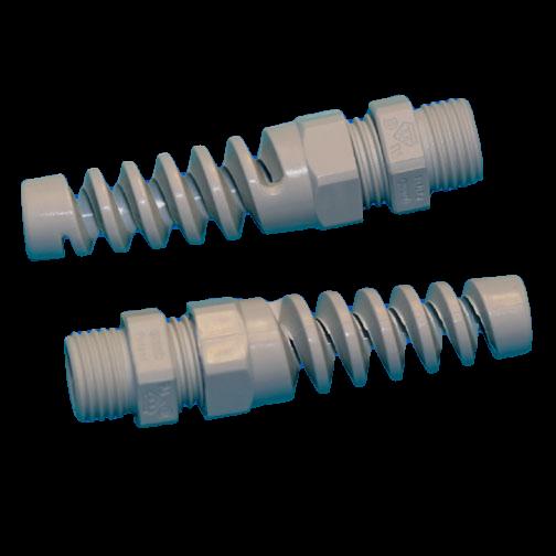 Kabelverschraubung-FLEX, mit Knickschutzspirale