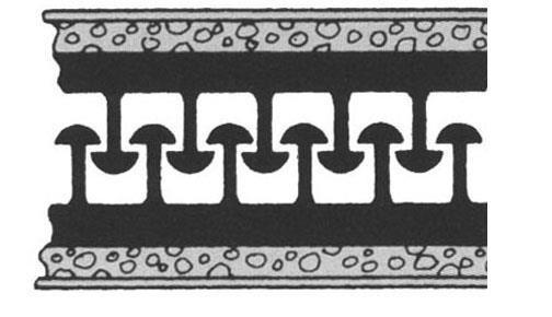 Zwei selbstklebenden Polyolefin-Streifen