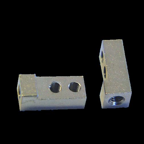 Cube Standoff Threaded 3xM2,5/12 Brass nickel-plated