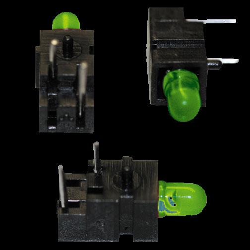 LED ø3mm/90° gewinkelt/grün Rastermaß 2,54mm