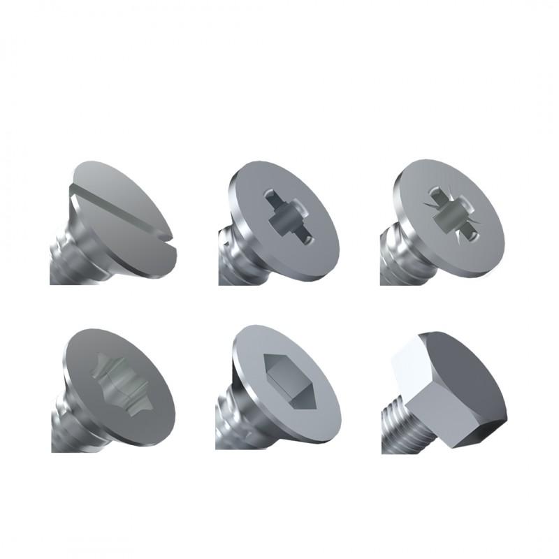 Schrauben standardisierten DIN- und ISO-Ausführungen, Gewindeschrauben
