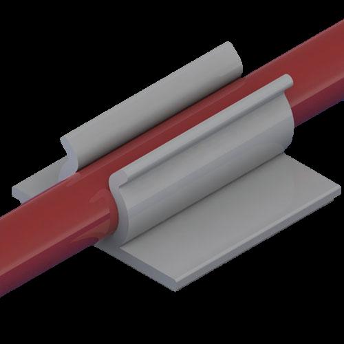 Kabelhalter selbstklebend PVC grau UL94-V0