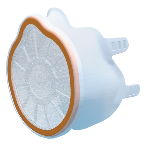 Respirator mask for universal use inclusive 2 antiviral/-bacterial filters