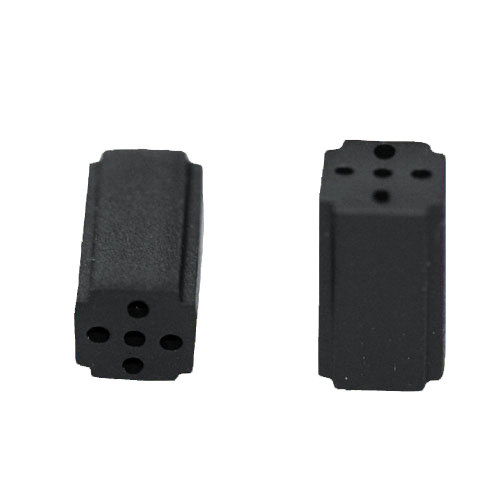Distanzhalter quadratisch PVC,schwarz UL94-V0
