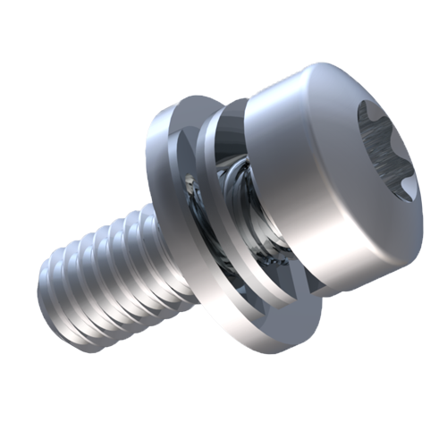 Screw and washer assembly/D6900-3 Pan Head M4X12 Steel Zinc plated