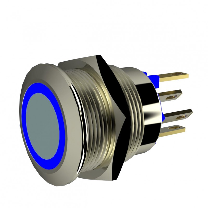Drucktaster mit LED-Beleuchtung, Leucht-Drucktaster