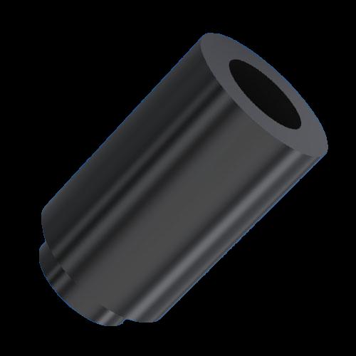 Distanzhülse PA (Polyamid) in schwarz, steckbar