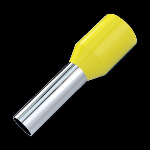 Aderendhülse DIN46228 0,25mm²/6mm Kennfarbe: gelb