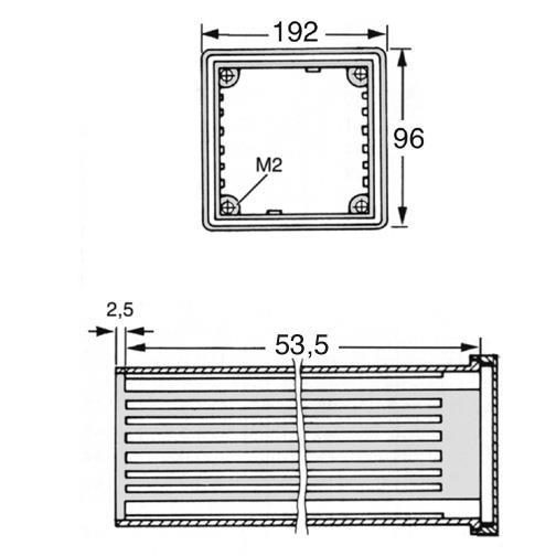 Norm Einbaugehäuse DIN 43700 192x96