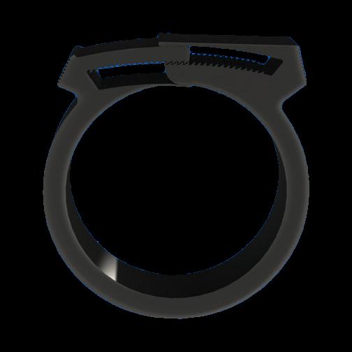 Schlauchklemme 22,2 - 25,4 mm Doppel-Verzahnung/wiederverwendbar