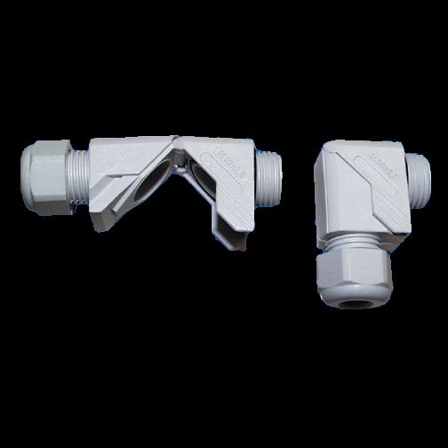 Winkel-Verschraubung PG11 ø3-7mm aufklappbar mit Dichtung