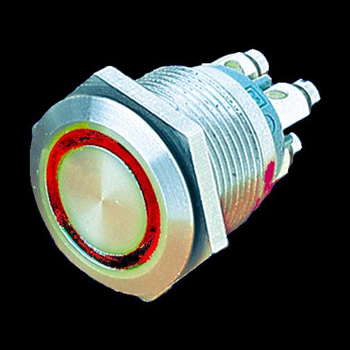 Sicherheits-Drucktaster IP66 vandalensicher,LED-Ringanzeige
