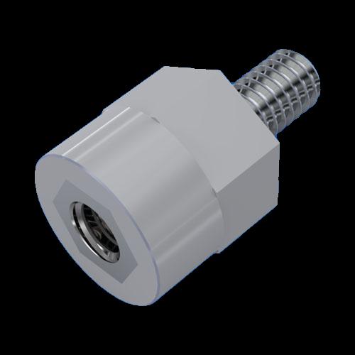 Kunststoff-Isolierstütze Typ B / Buchse/Außengewinde Stahl verzinkt