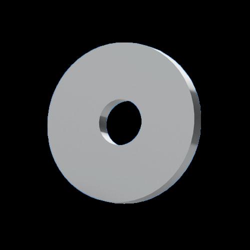 Unterlegscheibe f. M3 nach DIN 433 ohne Fase