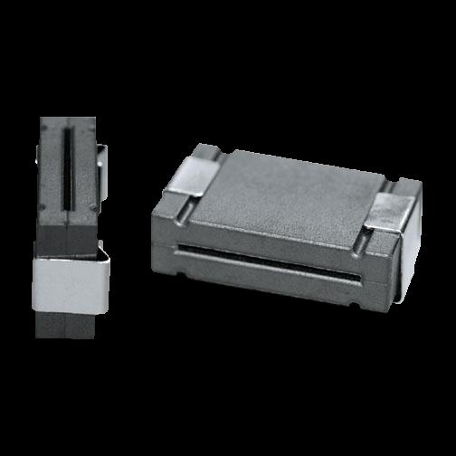 Ferrit-Kern für Flachbandkabel geteilt/mit Stahl-Halteclips