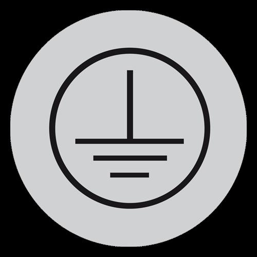 Schild nach DIN EN 60445 10 mm / Schutzleiteranschluss